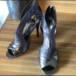 GUESS sexy gunmetal sparkles slingback heels pumps